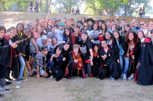 Encontro de fãs de Harry Potter no Rio aquece estreia de último filme